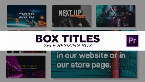 可以自动调整大小的盒子标题动画Premiere模板免费下载 标题文字 第1张