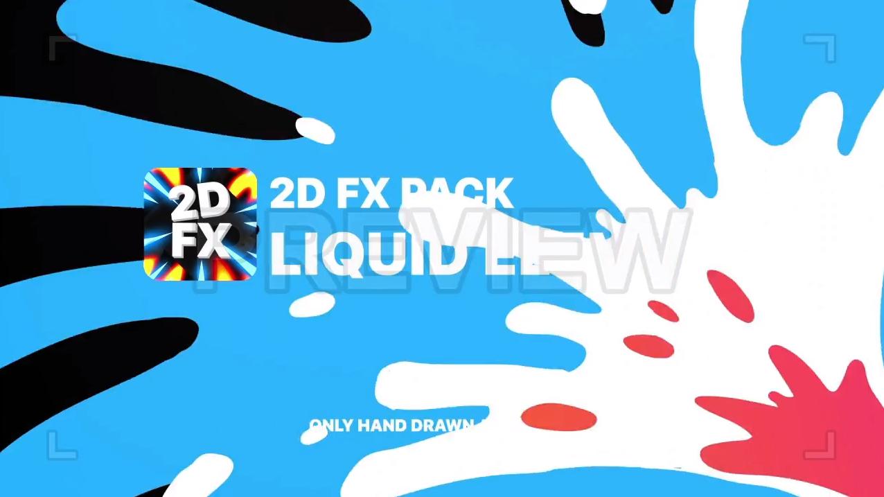 2D卡通动画MG元素PR视频转场素材下载 Premiere趣味短视频转场素材(带通道)4K插图