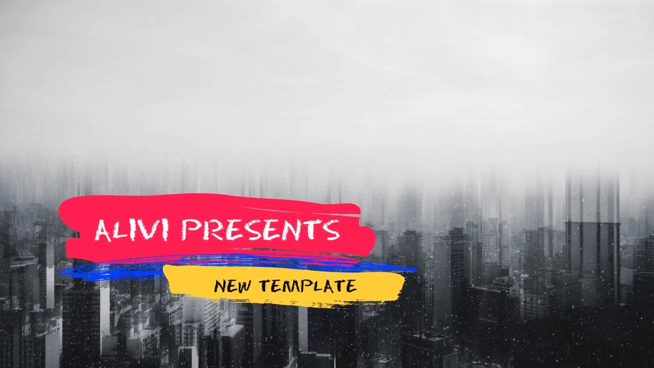 AE模板免费下载 美食/旅游/故事介绍等彩色绚丽的动态字幕条AE模板插图