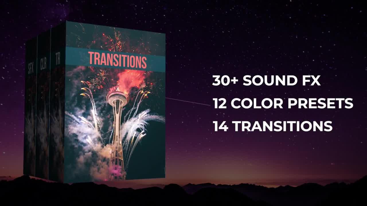 Premiere 50+ Pack:视频转场过渡 PR颜色预设 过渡音效下载 PR插件 第1张