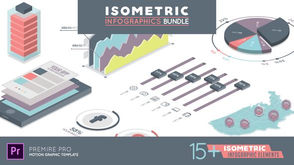 PR数据分析统计模板 Premiere等距信息图表动画图形模板 企业宣传 第1张