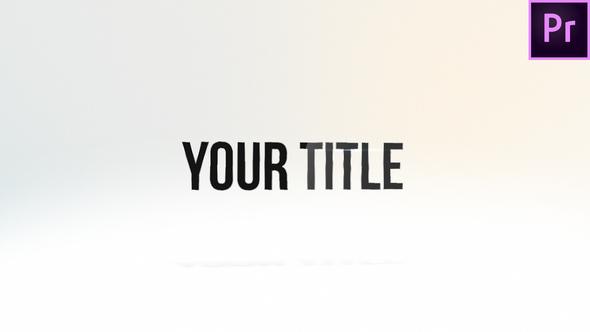 一个干净优雅的企业宣传标题文字PR模板 Premiere标题文字模板.Mogrt 标题文字 第1张