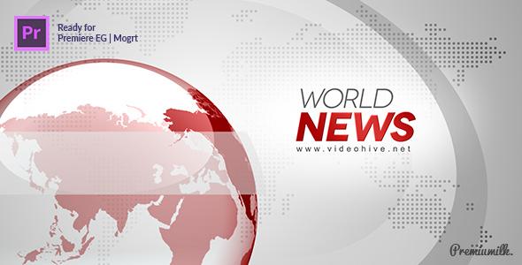 新闻媒体报道Premiere模板 电视广播栏目包装Mogrt格式PR模板 企业宣传 第1张