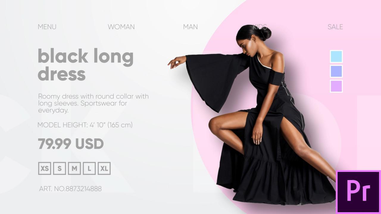Premiere时尚服装配饰鞋品包包等新品促销活动宣传视频模板下载