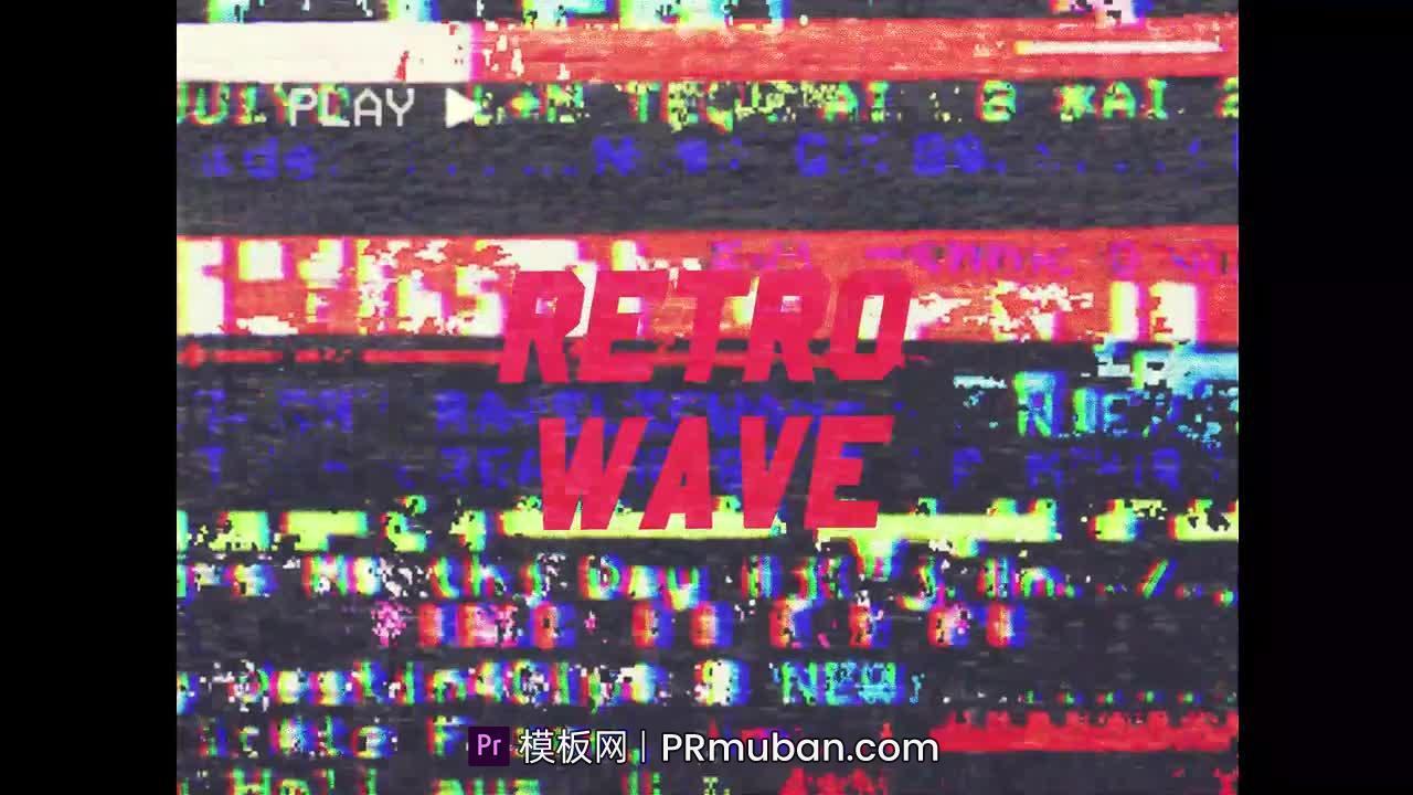 PR模板 80年代老旧电视机雪花信号干扰VHS风格快速促销Adobe Premiere模板下载插图