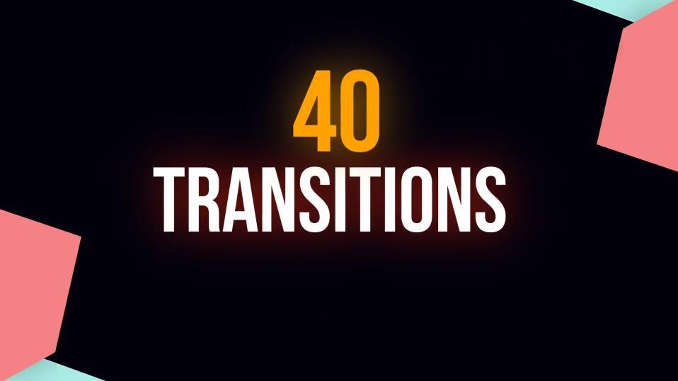 40个丰富多彩的PR图形转场过渡 3K动态图形PR转场模板免费下载插图