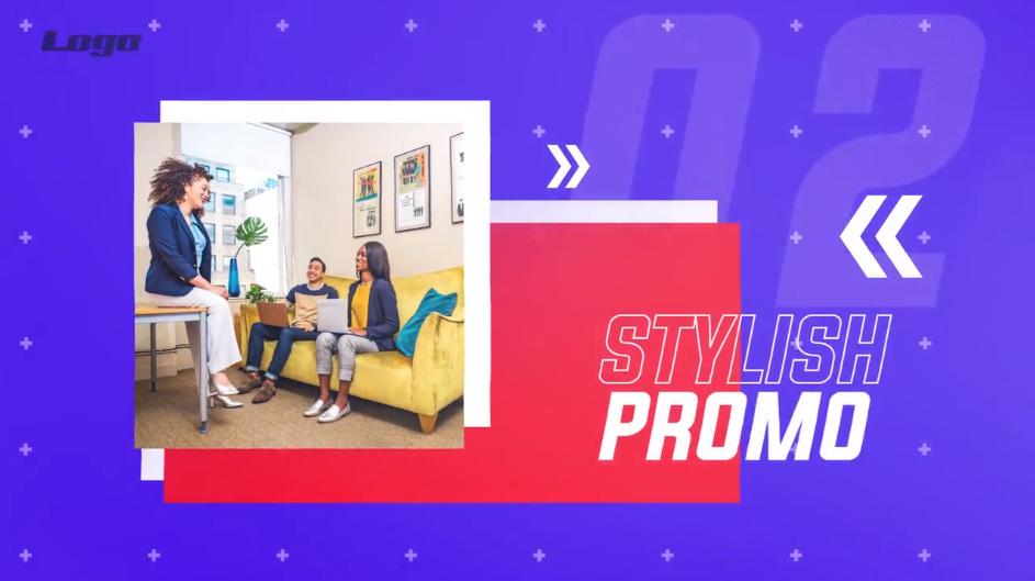 Premiere现代企业宣传幻灯片模板 时尚企业信息图文介绍PR视频模板插图