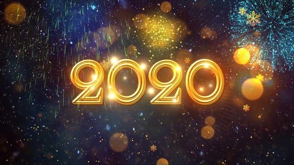 2020年新年倒计时PR模板 PR元旦晚会舞台表演活动开场视频模板插图(4)