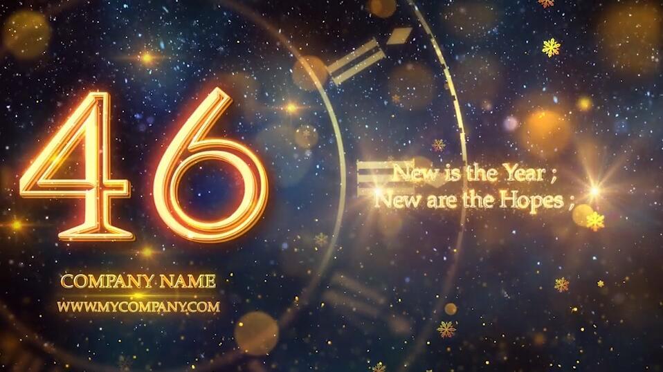 2020年新年倒计时PR模板 PR元旦晚会舞台表演活动开场视频模板插图(1)