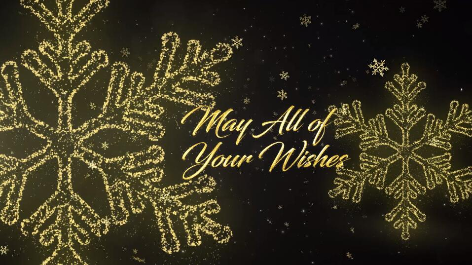 Premiere圣诞节日活动视频模板 光线穿梭金色雪花粒子效果PR标题文字模板插图(1)
