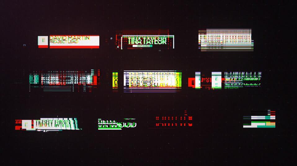 Pr超级故障字幕条模板 18种独特Premiere标题文字动画模板插图