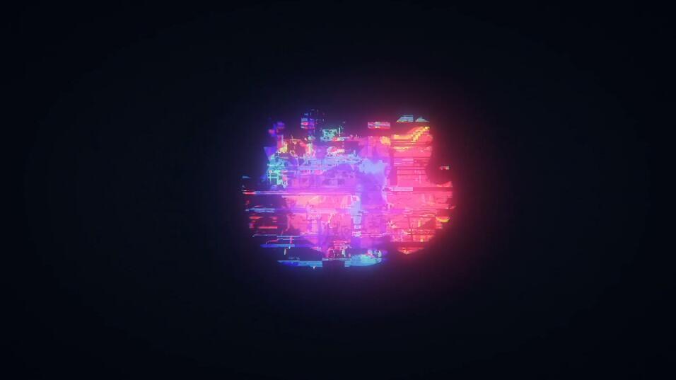 发光效果故障片头LOGO动画展示PR模板免费下载插图
