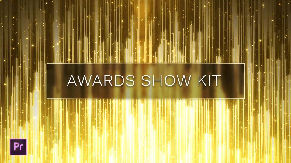 PR模板 高端大气金色奢华粒子效果颁奖典礼PR模板(附详细视频教程)插图