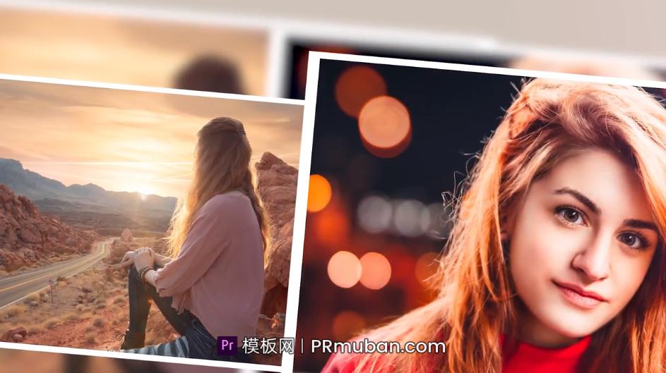 PR相册模板 极简旅行团建活动回忆情侣照片展示Pr视频模板插图