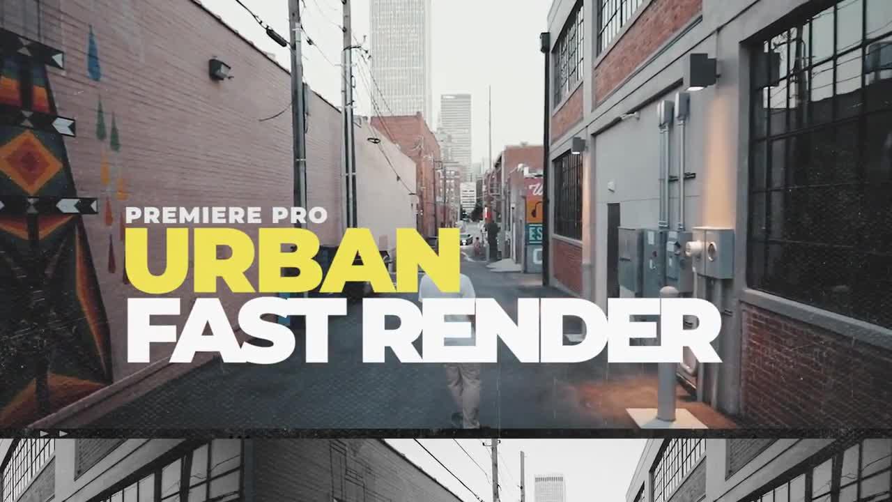 PR模板 炫酷动态开场PR视频模板 Urban Openers