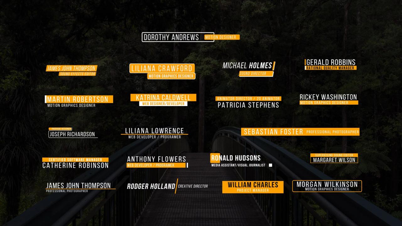 20个免费动态设计创意字幕动画PR字幕条模板下载