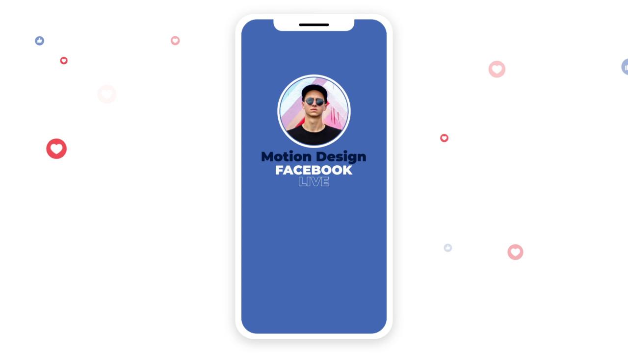 PR视频直播模板 脸书Facebook直播点赞视频包装作品宣传视频模板