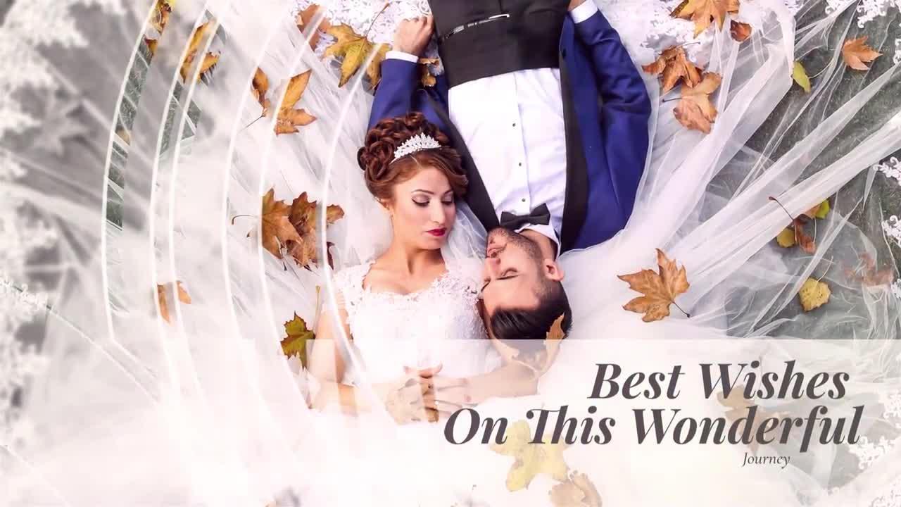PR婚礼视频模板 磨砂玻璃效果图形动画婚礼婚纱照片展示PR幻灯片模板