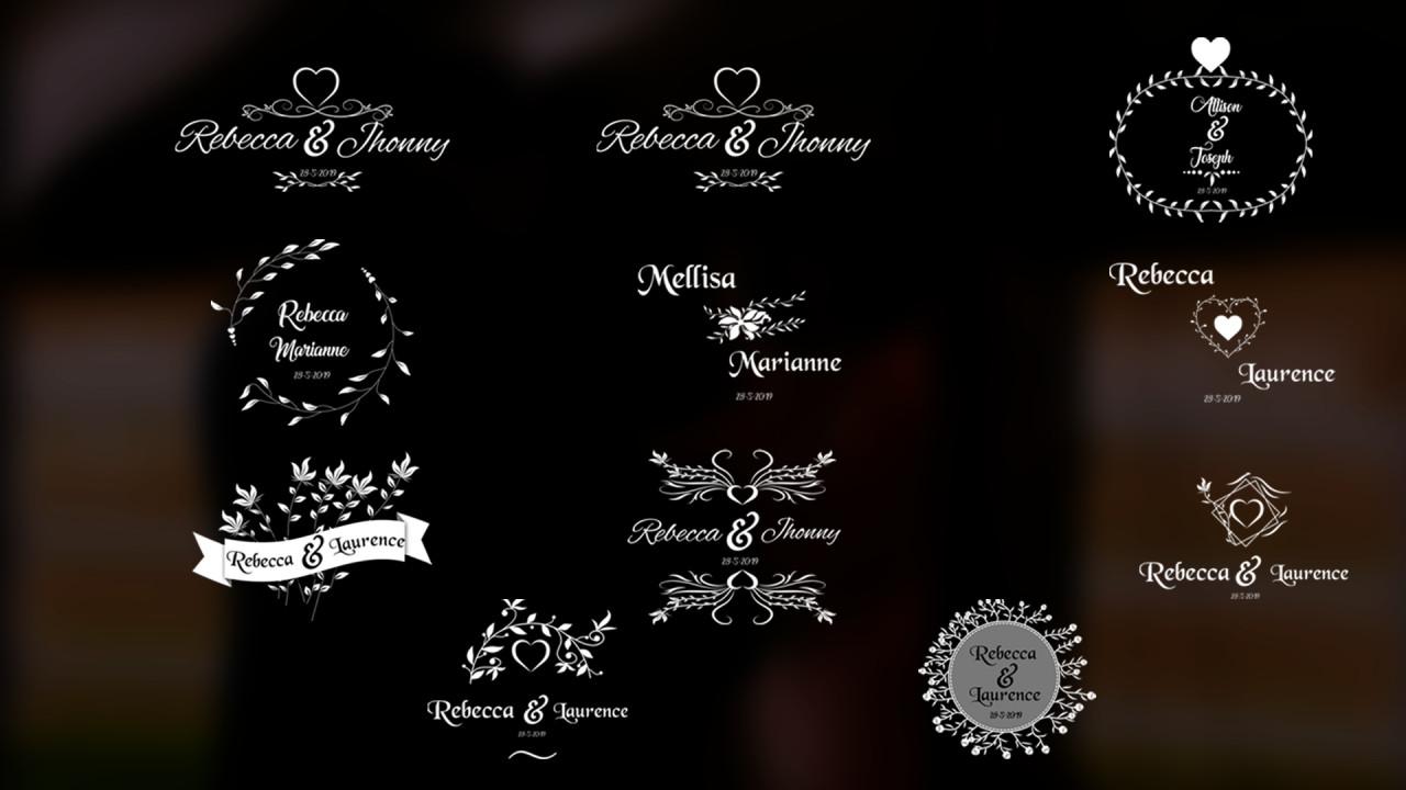 PR免费模板 极致简洁唯美婚礼标题PR文字模板下载