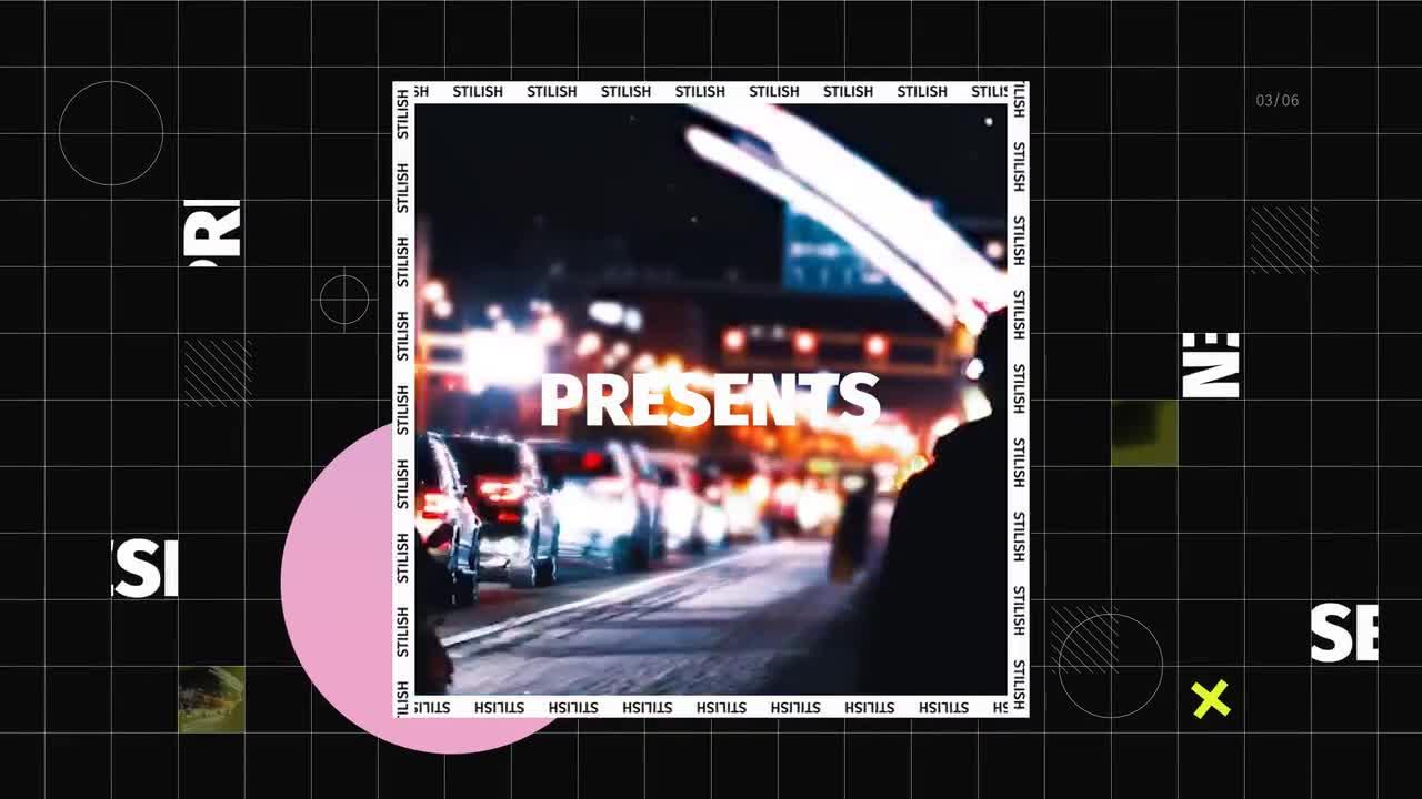 PR模板 超具创意设计感图文展示PR视频模板