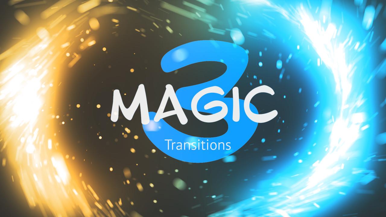PR转场特效 非常唯美震撼魔法光效粒子转场过渡PR模板