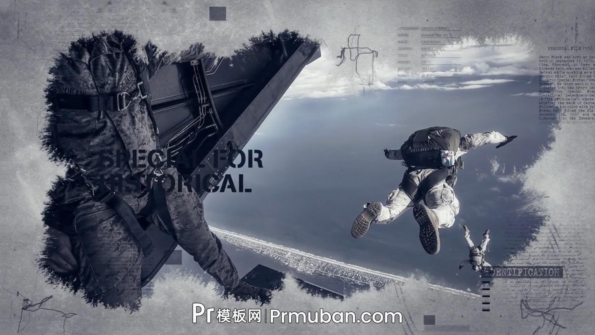 超级震撼大气史诗级电影开场预告片PR模板 水墨数字科技元素PR特效模板
