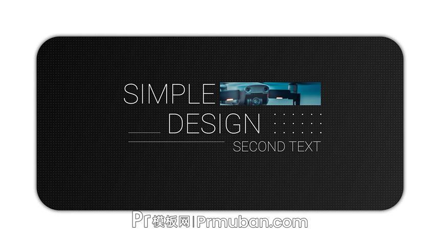 PR标题模板 极简线条轻设计文字动画PR字幕模板下载