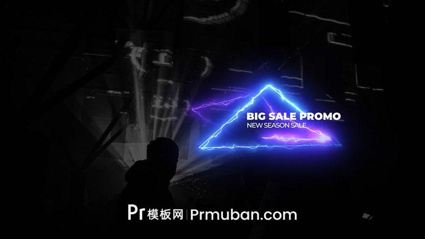PR字幕模板 9个酷炫霓虹灯特效火焰线条动画PR字幕条模板