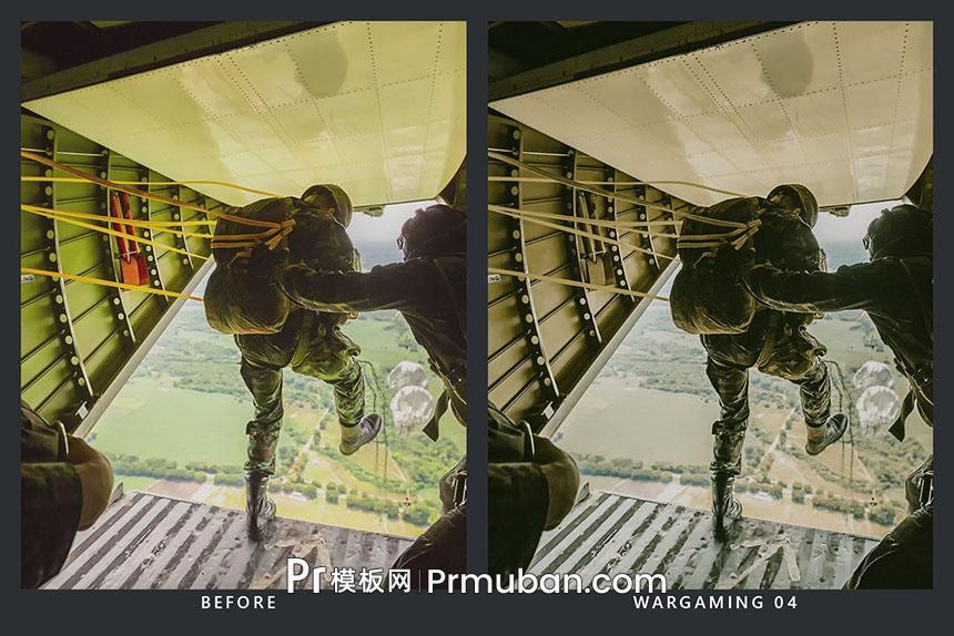 "PR调色LUT 军队部队枪战演练/""吃鸡""游戏视频调色预设LUTs-PR模板网"
