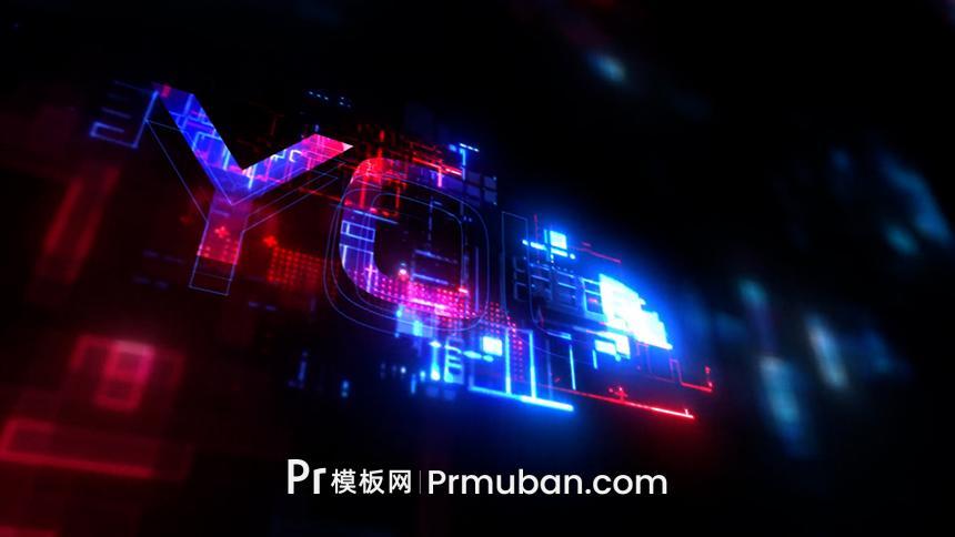 炫酷数字科技logo片头PR模板MOGRT|如何使用视频教程
