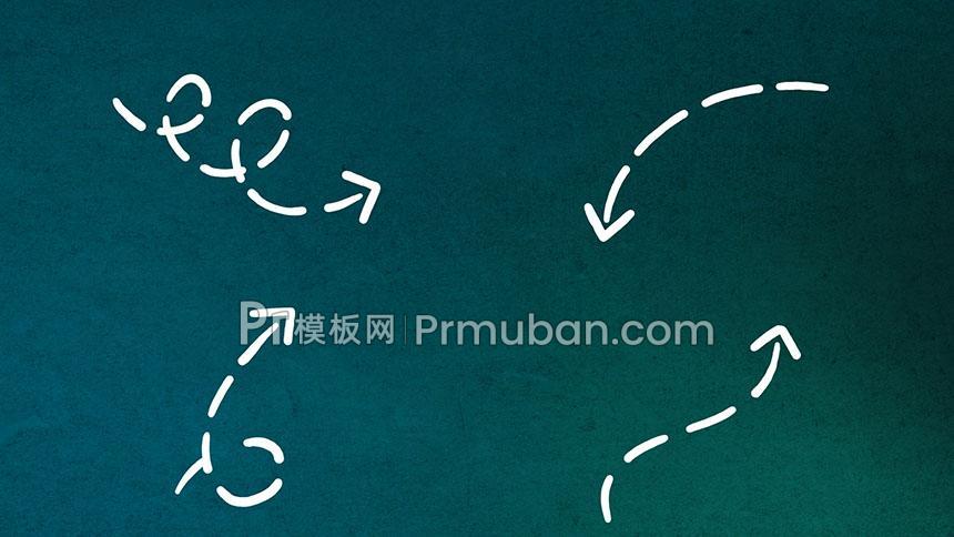 【PR箭头素材】35种方向样式PR箭头模板素材MOGRT-PR模板网